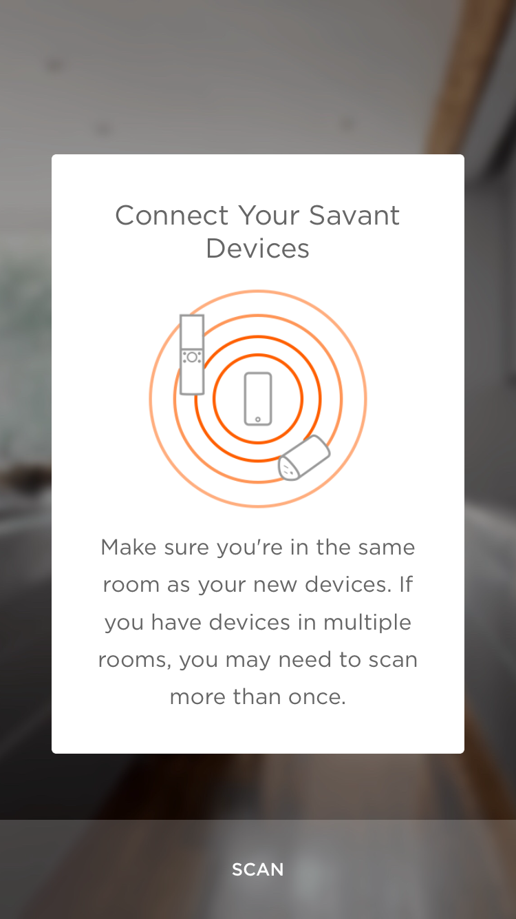connect Savant devices
