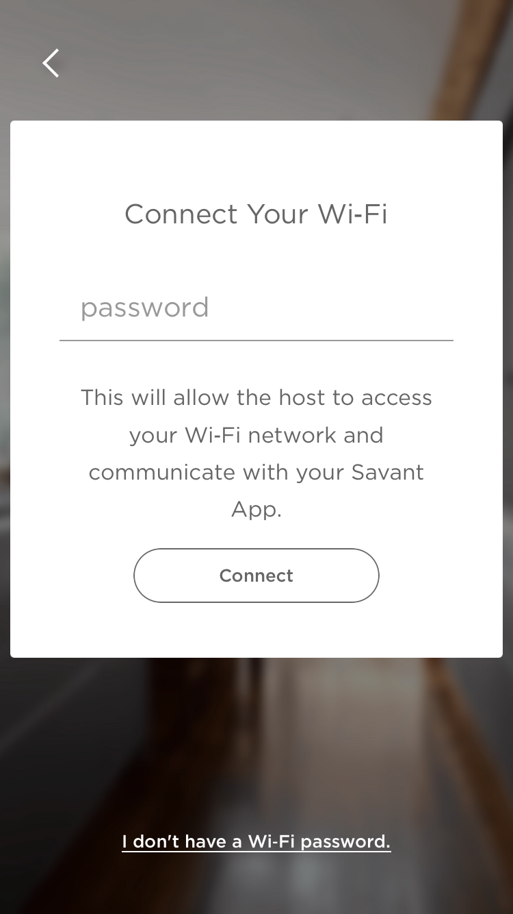 connect your wifi Savant