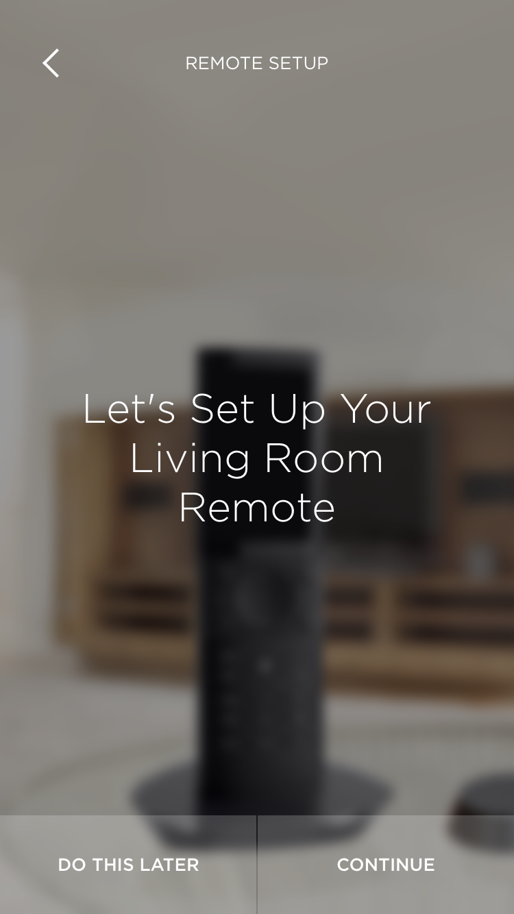 living room remote Savant