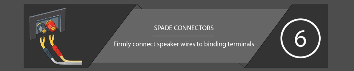 Speaker Connections Spade Connectors