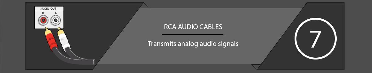 TV Connectors and Ports RCA Audio Cables