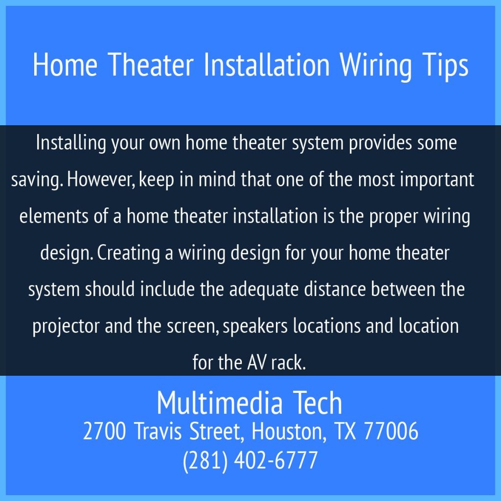 Home Theater Installation Wiring Tips