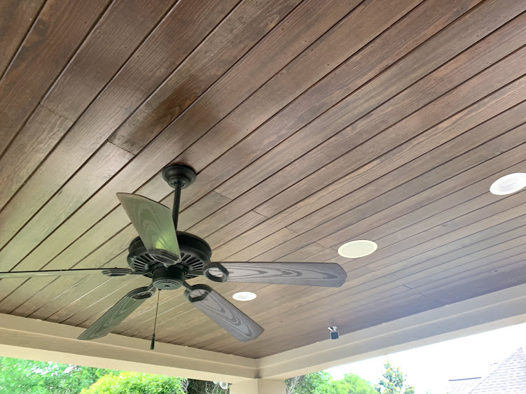 inceiling outdoor speaker installed even if the ceiling was made with wood