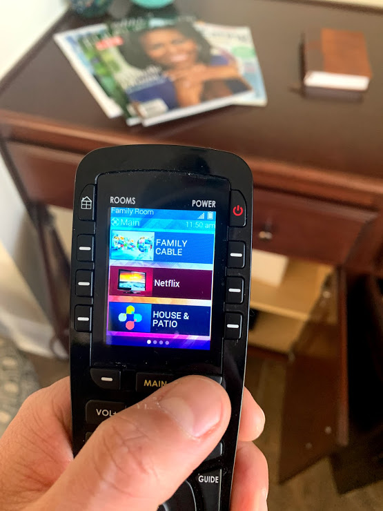 smart remote programmed with macros included