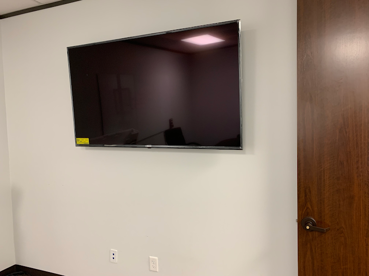 tv installation in an office